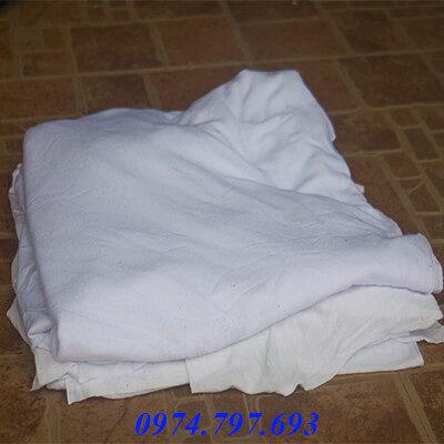 giẻ lau cotton trắng 01