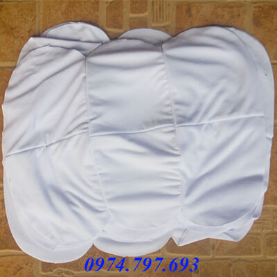 Mẫu giẻ lau cotton trắng khổ nhỏ ms 07