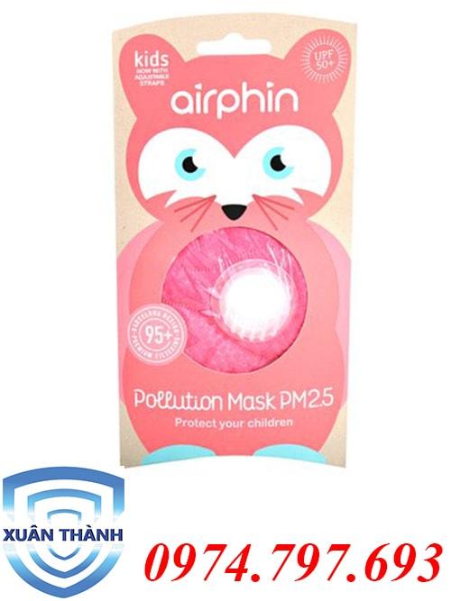 khẩu trang Airphin trẻ em màu hồng