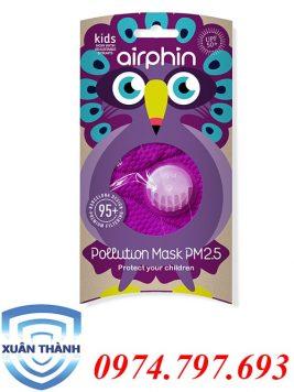 khẩu trang Airphin trẻ em màu tím
