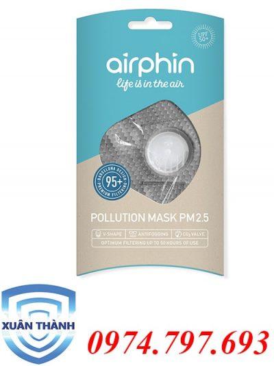 khẩu trang Airphin dành cho người lớn màu bạc hà