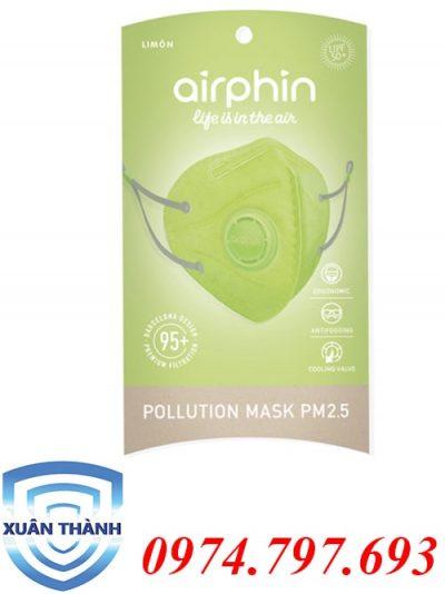 khẩu trang Airphin dành cho người lớn màu chanh