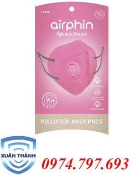 khẩu trang Airphin dành cho người lớn màu hồng